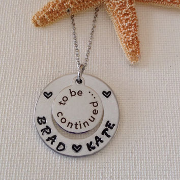 To be continued necklace, couples necklace, newlyweds, wedding gift, new bride necklace, mothers day