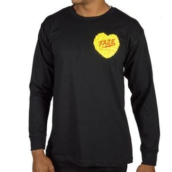 FAZE With Love Long-sleeve Tee in black