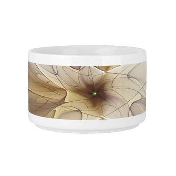 Floral Fantasy Pattern Abstract Fractal Art Bowl
