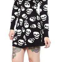 SOURPUSS LUST FOR SKULLS SWEATER DRESS