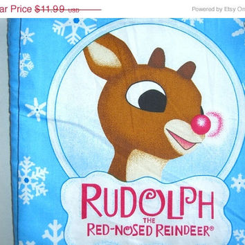 Soft fabric book Rudolph the Red nosed Reindeer Santa Christmas story Homemade kids toddler