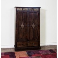 Sunny Designs Santa Fe 3 Shelves Pantry with 1 Drawer In Dark Chocolate