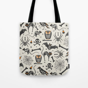 Halloween X-Ray Tote Bag by Heather Dutton