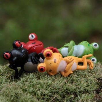 Frog Animals Figures Garden Miniatures