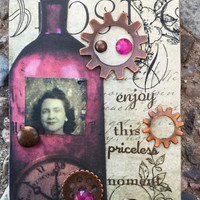 Moments In Time A Conceptual AcEo  2.5 x 3.5 By Alteredhead Artist Trading Cards