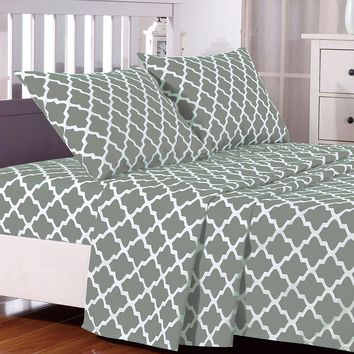 1800 Egyptian Comfort 4 Piece Deep Pocket Bed Sheet Set Multi-Colors All Sizes