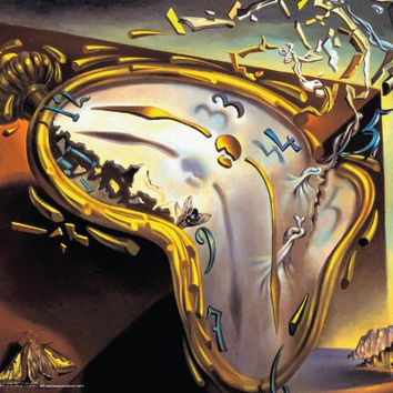 Salvador Dali Montre Molles (Soft Watch Explosion) Surrealist Art Poster Print 16x20