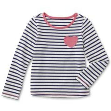 Infant & Toddler Girl's Long Sleeve Top - Striped - Kmart
