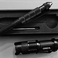 Tactical pen and flashlight Special Free shipping