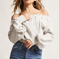 Off-the-Shoulder Fleece Top