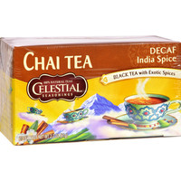 Celestial Seasonings Decaffeinated Black Tea India Spice Chai - 20 Tea Bags