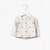 Imps and Elfs Girls L/S Blouse - Old Grey - 3150071