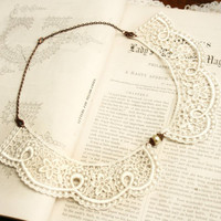 lace collar necklace -CHANTILLY- ivory