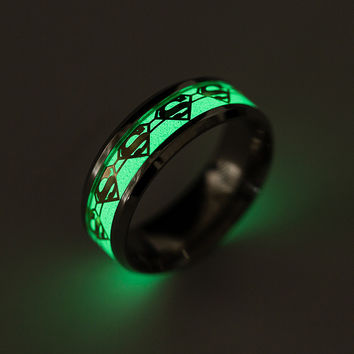 Stylish Shiny Gift New Arrival Jewelry Strong Character Men Hot Sale Superman Ring [10059715075]