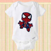 Spiderman cute baby Onesuit, Spiderman cute baby shirt, Funny Baby Clothes,Baby Shirt, Baby TShirt, Cute Baby Clothing, baby gift