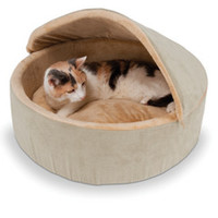 The Warming Cat Bed (Small) - Hammacher Schlemmer
