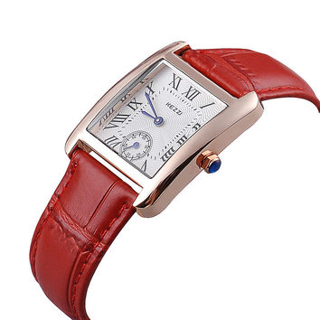 Waterproof Leather Strap Dress Watch