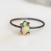 Mixed Metal Opal Ring