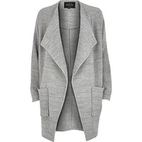 River Island Womens Grey draped front jersey jacket