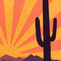 Arizona Art Print by AtomicChild