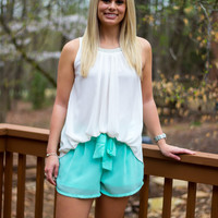 Vineyard Summer Shorts - Mint