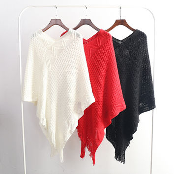 Winter cover up sweater Scarves Shawl women body clothes china one piece  Ponchos And Capes femme  Cotton