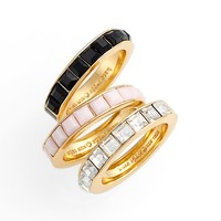 Women's kate spade new york stackable rings - Multi/ Gold (set of 3)