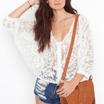 Juliet Lace Blouse in  Clothes at Nasty Gal