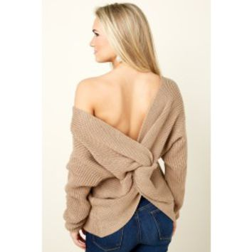All Shook Up Tan Sweater
