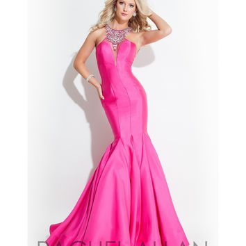 Preorder - Rachel Allan 7149 Fuchsia Pink Sexy Mermaid Long Gown 2016 Prom Dresses