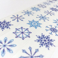 snowflake washi tape 2cm x 5M snowscape winter snow scenes snowflake pattern wide tape winter snow winter themed sticker winter decor gift