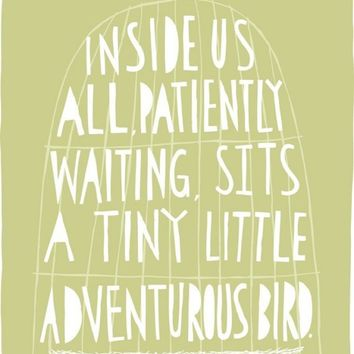 The Tiny Little Adventurous Bird Fine Art Print by FreyaArt