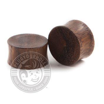 Tiger Wood Concave Plugs