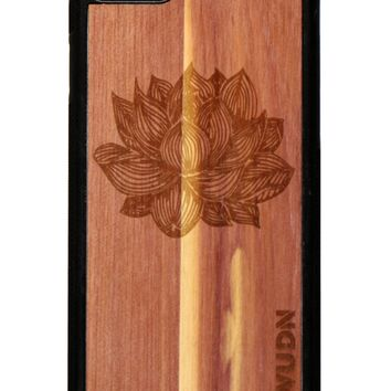 Slim Wooden Phone Case (Black) | Yoga Lotus