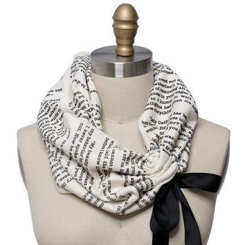 Pride and Prejudice Ribbon Book Scarf