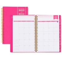 Day Designer Pink Weekly/Monthly 5 x 8 Planner July 2015 - June 2016