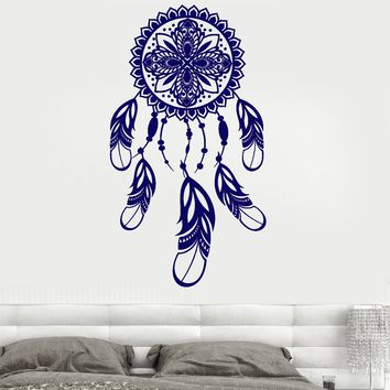 Wall Vinyl Decal Dreamcatcher Dream Catcher Magic Indian Decor Unique Gift z3793