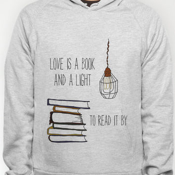 Love Is A Book Hoody by Nan Lawson | Society6