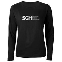 SGH Women's Long Sleeve Dark T-Shirt> Seattle Grace Hospital> Grey's Anatomy TV Store
