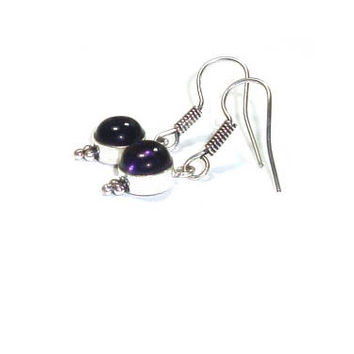 Genuine Amethyst Earrings  ,  Sterling Silver  Amethyst Earrings , Gift For her
