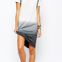 Grey Ombre Short-Sleeve Dress