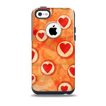 The Vintage Subtle Red and Orange Hearts Skin for the iPhone 5c OtterBox Commuter Case