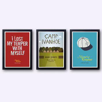 Moonrise Kingdom Collection - 3 original posters inspired by the Wes Anderson film - 25% OFF!
