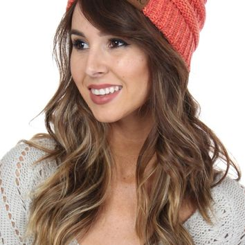 Heathered Knit Beanie Citrus
