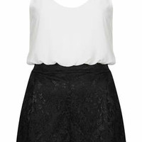 **LACEY CONTRAST PLAYSUIT BY TFNC