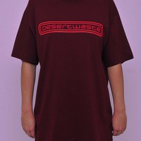 Extra Oversized Tee Redwine Woman | Desert-waste