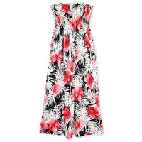 guava hawaiian maxi dress