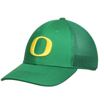Oregon Ducks Apple Green Performance L91 Mesh Back Swoosh Flex Hat