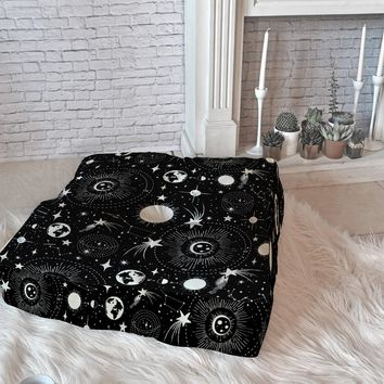 Heather Dutton Solar System Floor Pillow Square