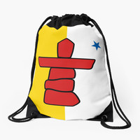 Flag of Nunavut - High quality authentic HD version by Bruiserstang